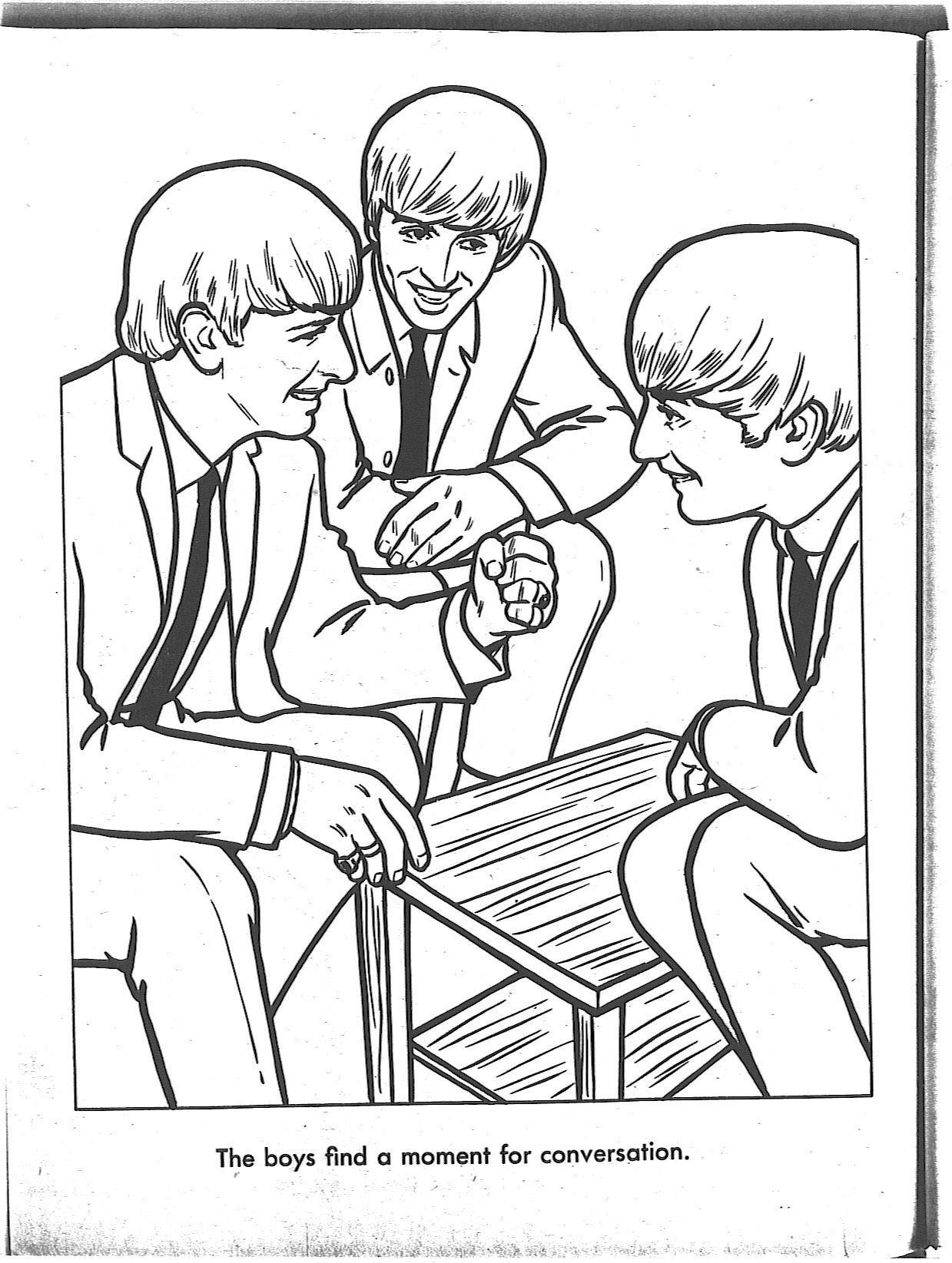 The beatles para colorear taringa for Beatles coloring book pages
